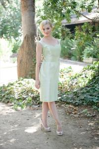 Toronto Wedding Bridal Gowns Anna Elyse Bridesmaids  Jamie with Curved V